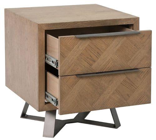 Iberia Grey Oak Bedside Cabinet